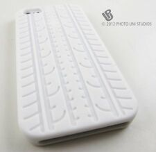 WHITE TIRE TREADS SOFT SILICONE RUBBER SKIN CASE COVER APPLE IPHONE 5 5S SE