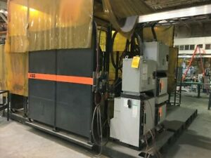ABB IRBP C-1000 SPOT WELDING CELL WITH TWO ABB IRB 6640 180/2.55 ROBOTS
