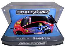 "Scalextric ""ICD"" BTCC Honda Civic DPR W/ Lights 1/32 Scale Slot Car C3860"