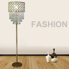Modern Luxury Crystal Living Room LED bulbs Floor Lamp Gold Bedroom Floor Lights