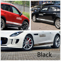 Pair Racing Car SUV Graphics Both Side Long Stripe Body Vinyl Sticker DIY Decals
