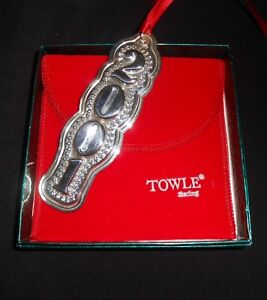 Sterling Ornament Christmas 2001 Tree Decor With Original Box & Dust Bag Towle