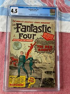 FANTASTIC FOUR 13 CGC 4.5 WHITE PAGES 1ST WATCHER