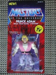 Masters of the Universe Prince Adam action figure MOC Super 7 Vintage series