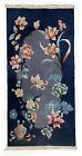 Handmade antique Art Deco Chinese rug 2' x 3.10' (61cm x 120cm) 1920s - 1B530