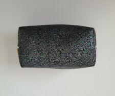 Women's Cosmetic Pouch Make-up Bag Black Metallic Glitter Multicolored