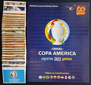 Panini Copa America 2021 Komplettset Softcover Leeralbum plus alle 369 Sticker