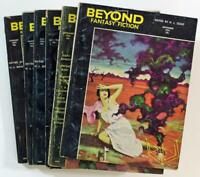 Lot of (6) Beyond Fantasy Fiction Magazines Pulp Digest 1953-1954, A002