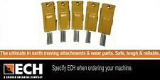 Genuine ECH0-3L Excavator Skid Steer Bucket Teeth Pack of 5 with Pins