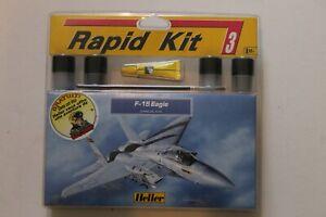 HELLER - 1/144 F-15 EAGLE - RAPID KIT PEINTURES COLLE + BD BUCK DANNY