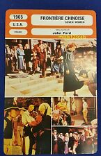 US Movie Seven Women John Ford Anne Bancroft Flora Robson French Trade Card