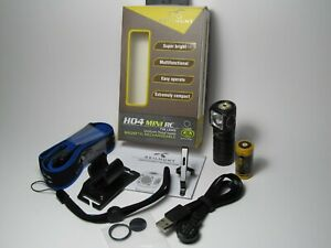 Skilhunt H04 Mini RC LED Stirnlampe Taschenlampe Nichia 219B sw35 R9080 high CRI