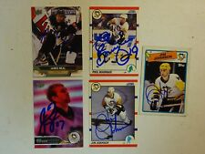 LOT OF 5 AUTOGRAPHED Pittsburgh Penguins Signed NHL HOCKEY CARDS UPPER DECK Etc.