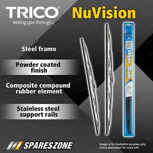 Pair Trico Nuvision Wiper Blades 610mm + 400mm for Ford Ranger PX 2011-2020