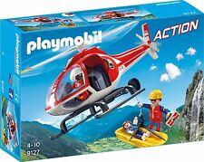 PLAYMOBIL 9127 Action-Elicottero Soccorso Alpino con figure giocattolo * Nuovo di Zecca *