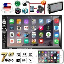 """Car Stereo Radio Bluetooth Audio Double 2 Din 7"""" Usb Aux Ios/Android Mirror Link"""