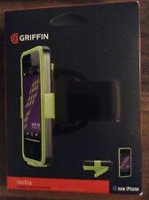 Griffin GB35566 IPhone 5 FastClip Armband/Case/Beltclip - Green/Black - NEW.