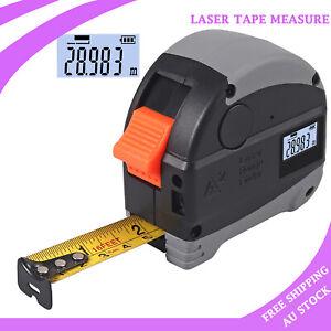 2 In 1 Digital Measuring Tape Laser Tool 30m/98Ft Laser range 5m Measuring Tape
