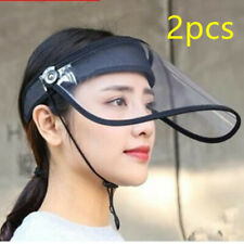 2PCS Safety Face Shield Clear Visor Splash Prevention Unisex Hats Hot Sale To US