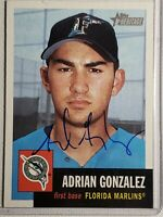 2002 Topps Heritage Adrian Gonzalez Auto Autograph Card Signed Marlins Red Sox