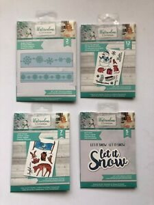 Crafter's Companion - Watercolour Christmas Stamps - 4 DIFFERENT DIE SETS