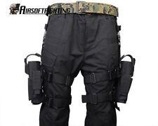 Left+Right Hand Adjust Tactical Army Pistol Gun Drop Leg Thigh Holster Pouch Bag