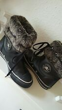 * Converse Chucks All Star Schuhe Stiefel Winter schwarz Leder 37.5 Fell Neu ***