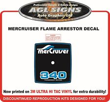 MerCruiser Generic Flame Arrestor Sticker for all sizes