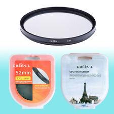 52mm CPL Circular Polarizer Filter Lens Protector Auto Focus Camera DSLR NIB