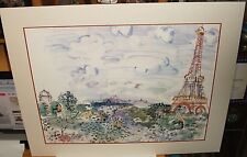 "RAOUL DUFY ""THE EFFIEL TOWER"" LARGE COLOR ART POSTER"