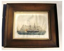 1800's - GIBRALTAR - Framed Lithograph with SHIP - Nice