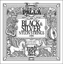 3 Pack Ernie Ball 2406 Black & Silver Nylon Strings Guitar Strings Free US Ship!