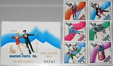HUNGARY UNGARN 1979 3390-95 Block 140 B C410-16 Winter Olympics 1980 Lake Placid