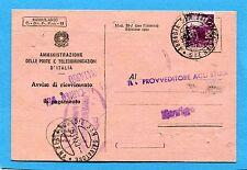 1950 DEMOCRATICA £.20 ISOLATO USATO COME SEGNATASSE- ABBADIA S.SALVATORE(222270)