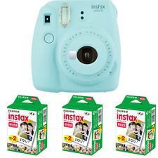 Fujifilm instax mini 9 Ice Blue Instant Film Camera + 60 Prints Mini Film