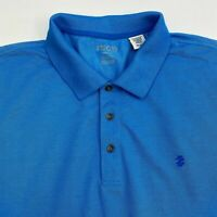 Izod Performance Polo Shirt Men's 2XL XXL Short Sleeve Blue Logo Embroidered
