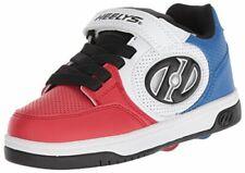 Heelys Kids' Plus X2 Wheeled Heel Shoe, Blue/White/Red, Size 3.0 Wmm6