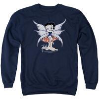 BETTY BOOP MUSHROOM FAIRY Licensed Pullover Crewneck Sweatshirt SM-3XL