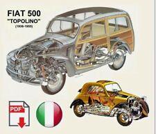 Fiat 500 Topolino A B C Istruzioni per le riparazioni Manuale officina ORIGINALE