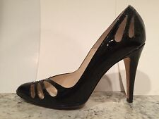 Brian Atwood Lauren Pumps High Heel Patent Leather Black 35 $580 Italy Nice!!!