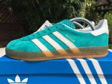 2015 adidas Gazelle Indoor EQT Green & White Suede Size 8 80s Football Casuals