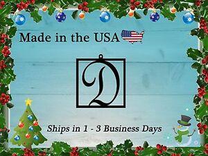 "3"" Square Monogram Christmas Ornament, Christmas Present, Ornament, LRO1013"