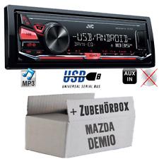 JVC Autoradio für Mazda Demio MP3 USB Auto KFZ Radio Android 4x50Watt Einbauset