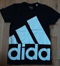 Adidas Climalite Sport Essentials Crew Neck T-Shirt - Size S Black Big Logo