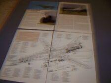 VINTAGE..TUPOLEV TU-22M3 BACKFIRE...CUTAWAY/LEGEND/3-VIEWS..RARE! (584J)