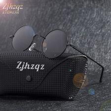 Men's Classic Polarized Sunglasses Metallic Retro Vintage Small Round Frame Lens