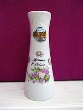 vase vintage en porcelaine STAR-CERAM décor Le Tréport & inscrit Maman je t'aime