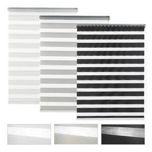 Day&Night Zebra/Vision Window Roller Blinds Home Office Curtains Blind 150cm