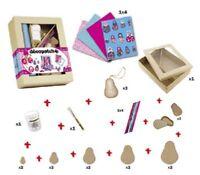 DecoPatch 3-teiliges Boxen Set selbst Gestalten Hutschachteln Oval Pappe Box