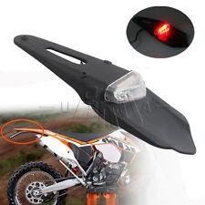 12-15V LED Rear Fender Brake Tail Light Enduro Trials Dirt Bike DRZ400 Clear